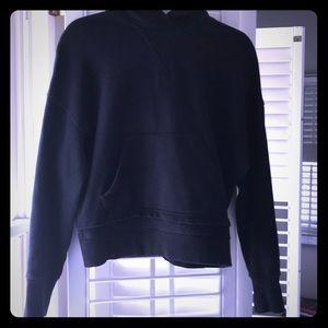 Lululemon warm down black hoodie, Sz 6